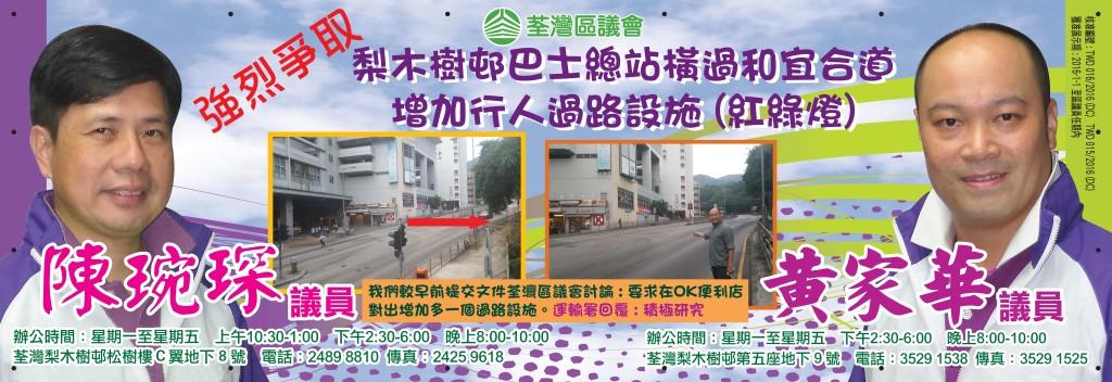 增加行人過路設施(紅綠燈)
