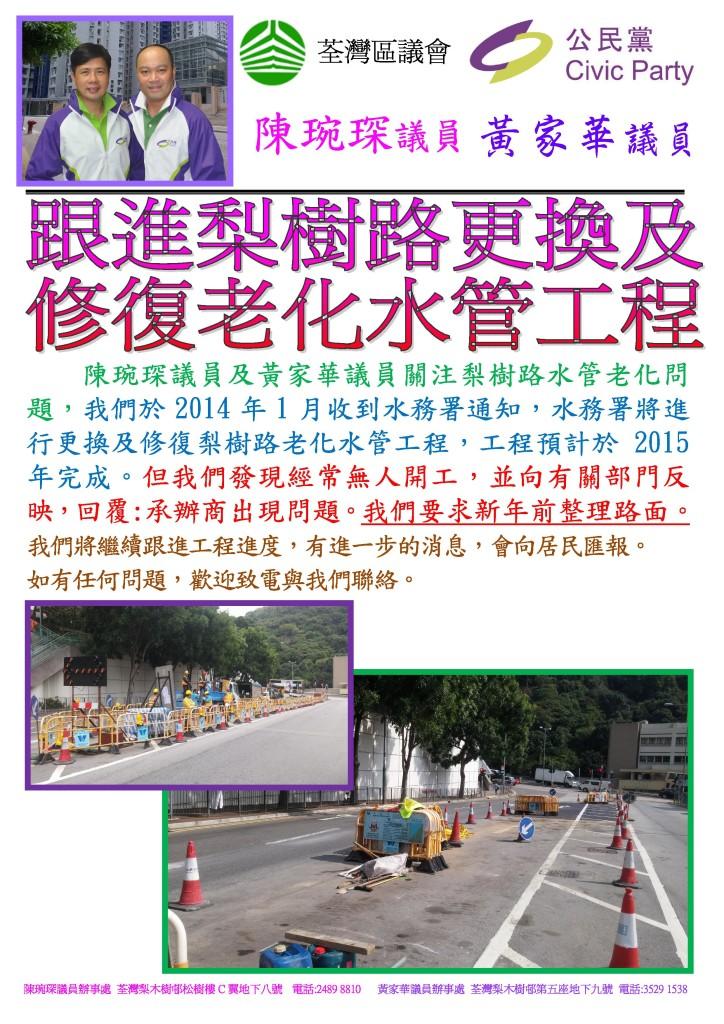 梨樹路更換及修復老化水管工程